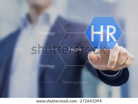 Human resources concept on touch interface #272641094
