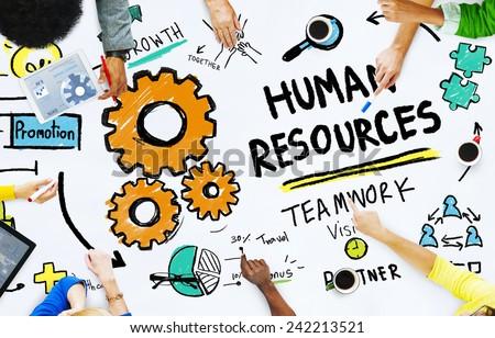 Human Resources Employment Job Teamwork Office Meeting Concept