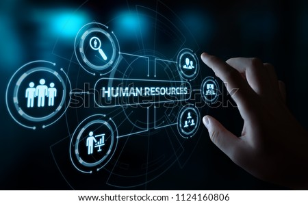 Human Resources HR management Recruitment Employment Headhunting Concept. #1124160806