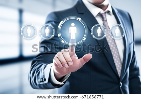 Human Resources HR management Recruitment Employment Headhunting Concept