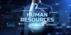 Human Resources management HR Recruitment Employment Headhunting  Business Concept.