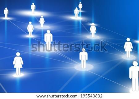 Human resources network Stockfoto ©