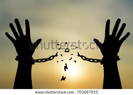 Photo of Human shadow image of human hand chain is absent. Get free