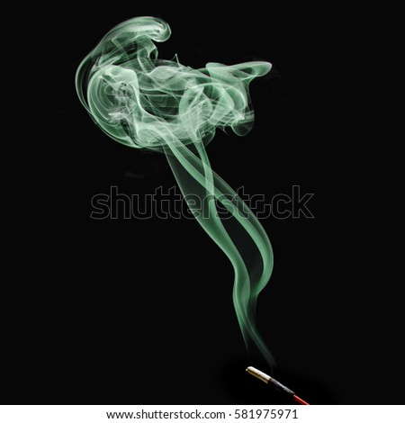 human shape smoke #581975971
