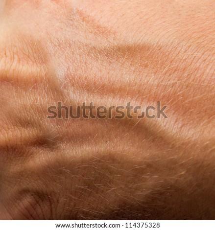 human skin as background