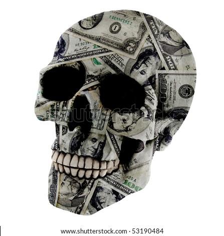 Skull with Money