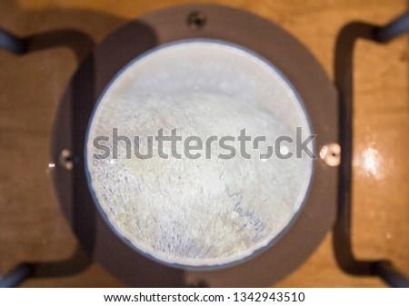 Human skull under magnifier #1342943510