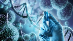 Human system cells molecular structure illustration