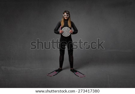 human target with immersion uniform, neutral background