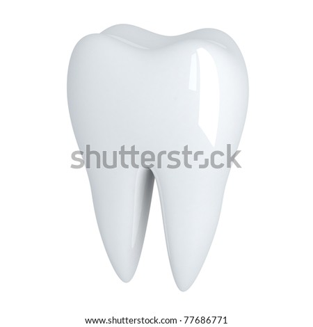 Human Tooth white (done in 3d, isolated)