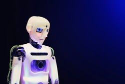 Humanoid robot, emotion of sadness.