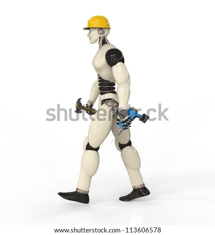 Humanoid With Drill and Hammer