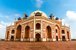 Humayun's Tomb, Delhi, was constructed out of red sandstone and was the first ever garden style tomb to be constructed in India.