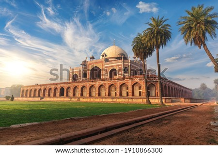 Humayun's Tomb in India, a famous UNESCO object in New Delhi