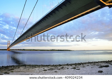 Humber bridge, east yorkshire, UK #409024234