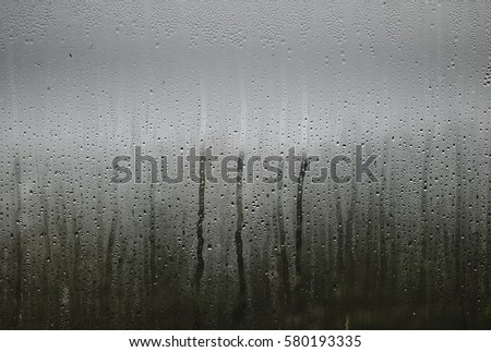 Humidity on window with grey background