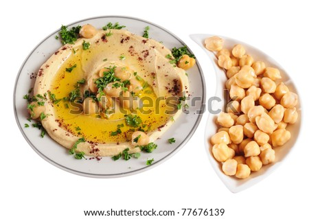 Hummus. Isolated
