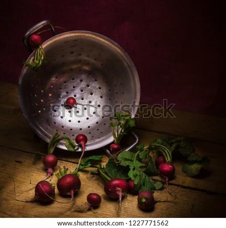 humoristic idea of conception with radish #1227771562