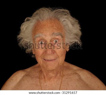 Humorous Image Of a Elderly man Playing around