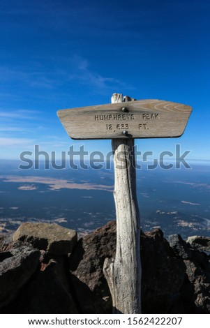 Humphreys Peak is the highest natural point in the U.S. state of Arizona, with an elevation of 12,633 feet and is located within the Kachina Peaks Wilderness in the Coconino National Forest