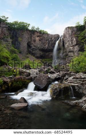 Hundafoss waterfall, Iceland