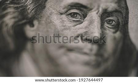 Hundred Dolar Banknotes Close Up View Zdjęcia stock ©