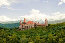 Hunedoara, Romania - Corvin Castle or Hunyadi Castle (Romanian: Castelul Corvinilor or Castelul Huniazilor)
