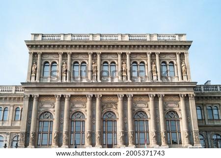 Hungarian Academy of Sciences or  magyar tudományos akadémia MTA Building in Budapest, Hungary Stock fotó ©
