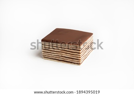 Hungarian Cake on a white background Foto d'archivio ©
