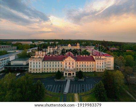 Hungarian University of Agriculture and Life Sciences in Godollo city near ban Budapest Hungary. Stock fotó ©