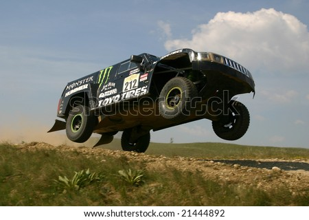 HUNGARY - April 20-25: Robby Gordon of USA participates in Central Europe Rally April 24, 2008 in Osku, Hungary.