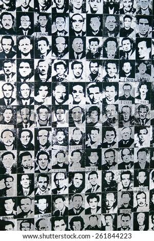 Hungary - Budapest - July 2010:  Museum of Terror - Memorial of the victim  Nazi-fascist regime #261844223
