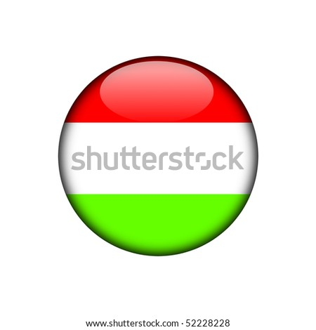 hungary button flag sign or badge for website