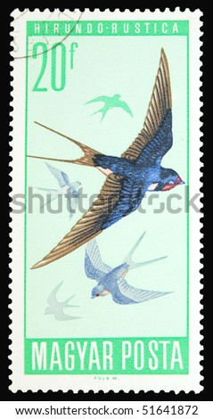HUNGARY - CIRCA 1975: A stamp printed in Hungary showing bird, circa 1975