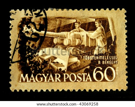HUNGARY - CIRCA 1951: A Stamp printed in Hungary shows miners, circa 1951