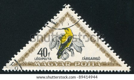 HUNGARY - CIRCA 1952: stamp printed by Hungary, shows Golden oriole, circa 1952