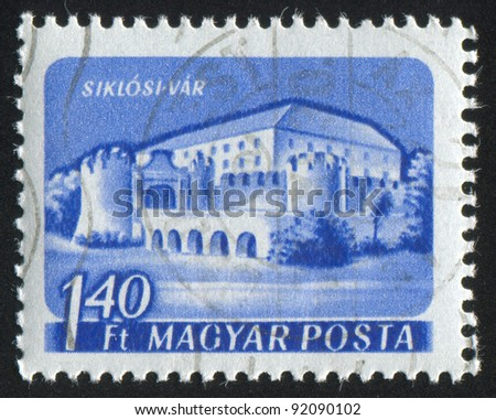 HUNGARY - CIRCA 1960: stamp printed by Hungary, shows Siklos Castle, circa 1960