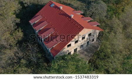 Hungary, house in the woods. Stock fotó ©