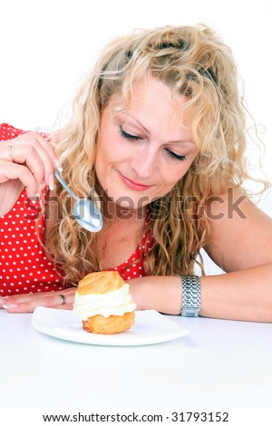 picture of fat kid eating cake. fat kid eating cake. pm idol gluttony venerated