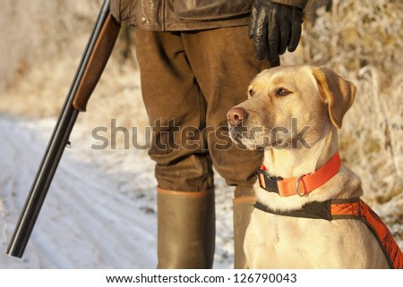 Hunter with dog #126790043