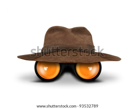 Hunters hat and binocular