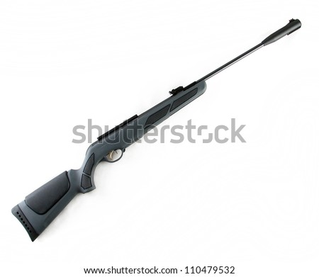 Hunting modern rifle isolated on white background