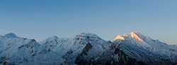 Hunza Valley Mountains landscape, Sunrise in Hunza Valley Mountains, north Pakistan, Gilgit-Baltistan