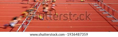 Hurdle Panorama Track and Field Running Сток-фото ©