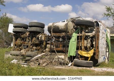 Hurricane Katrina damage - lower 9th ward - New Orleans, LA - stock photo