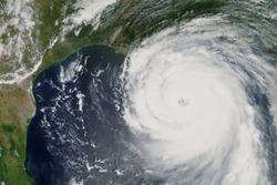 Hurricane Katrina heading towards New Orleans, Louisiana in 2005 - Elements of this image furnished by NASA