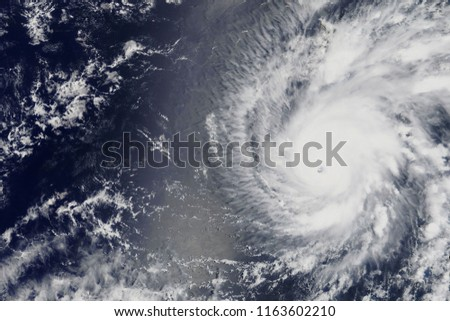 Hurricane Lane heading towards Hawaii in 2018 - Elements of this image furnished by NASA