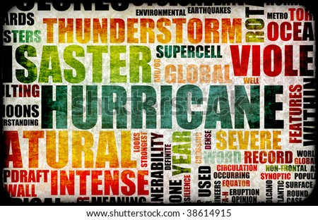 Hurricane Natural Disaster as a Art Background - stock photo