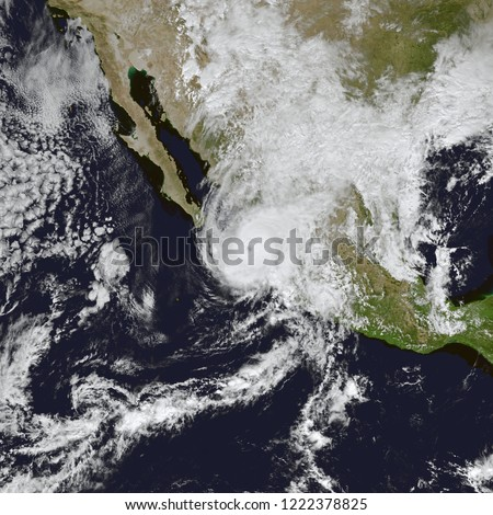 Hurricane Willa Closes in on Mexico. The category 3 hurricane was expected to bring strong winds, heavy rainfall, and a storm surge to Mexico. Elements of this image furnished by NASA.