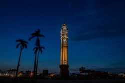 Husainabad Clock Tower is a clock tower located in the Lucknow city of India. It was constructed in 1881 by Hussainabad